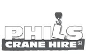 phils crane hire logo